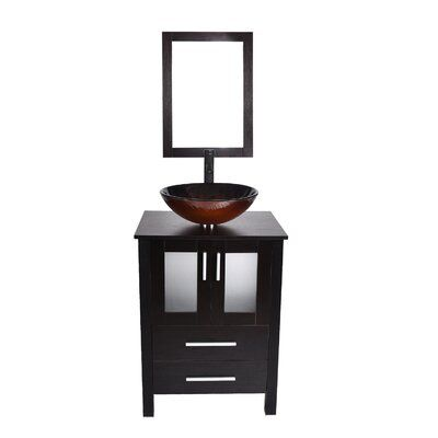 World Menagerie Merha 24 Single Bathroom Vanity Set With Mirror