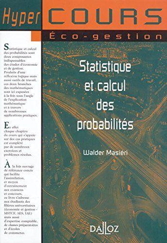 Libre Statistiques Et Calcul Des Probabilita C S Pdf Livre Valrhona Pdf Calcul Probabilites Livre