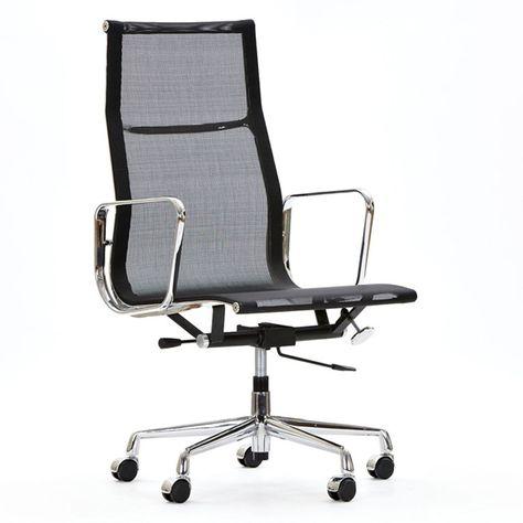 Charles Eames Bureaustoel.Bureaustoel Ea119 Mesh Netweave Zwart In 2020 Charles Eames