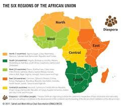 Image result for africa political map with the six geopolitical