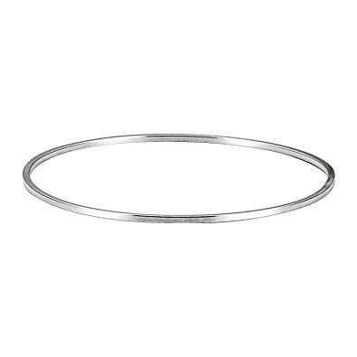 Ladies Silver Bangle Solid Sterling Silver Plain and Polished Hinged