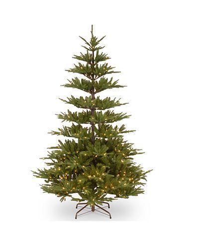National Tree Company National Tree 7 5 Feel Real Glenwood Fir Hinged Tree With Bark Pole 450 Clear Lights Types Of Christmas Trees Twig Christmas Tree Tree