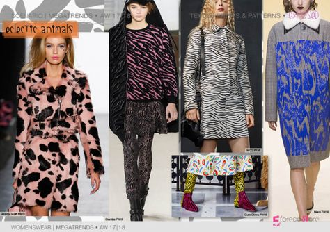 fashion mega trends forecasting prints & Patterns for AW 17-18 by 5forecastore