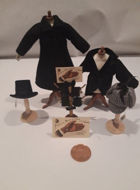 Ladies and Gents various Handmade Miniature 1//12th scale dolls house HAT SETS