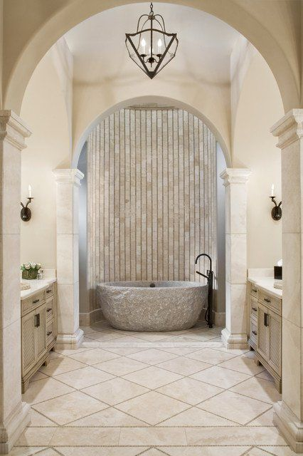 Merveilleux 18 Divine Mediterranean Bathrooms That Will Make You Fall In Love With This  Style | Mediterranean Bathroom, House And Bath
