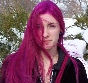 virgin rose special fx dyed pink hair..this and cotton candy for my birthday gift to myself!