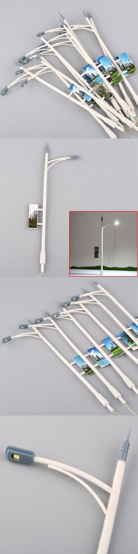 Lamps and lights 81048 10pcs o scale 150 model railway lamppost lamps street lights leds toy us buy it now only 10 69 on ebay