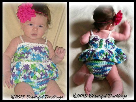 Baylee Tankini 3-in-1 pattern by Sonya Blackstone/Blackstone Designs #tankini #bikini #sundress #crochet #summer #swimwear #blackstonedesigns #mmmakers