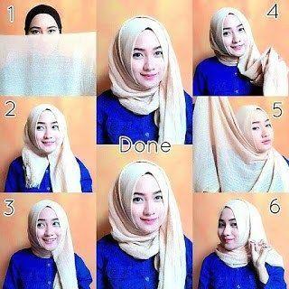 Tutorial Hijab Pashmina Satin Wisuda 1000 Hijab Style Tutorial How To Wear Hijab Hijab Style Dress