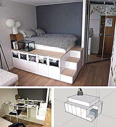 Ikea Bett Bauen Anleitung In 2020 Diy Bed Ikea Bed Bedroom Diy