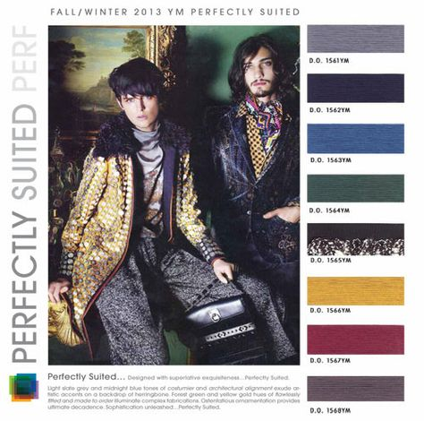 DESIGN OPTIONS- mens color trends fall winter 2013 2014 PERFECTLY SUITED