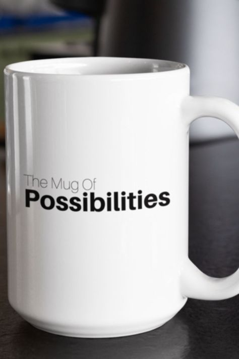 The Mug Of Possibilities. What is the mug of possibilities you ask?  Well if you believe that anything is possible then the answer is whatever you want it to be! Give our cryptic The Mug Of Possibilities Mug to someone you know that loves to tackle those improbable questions in life.