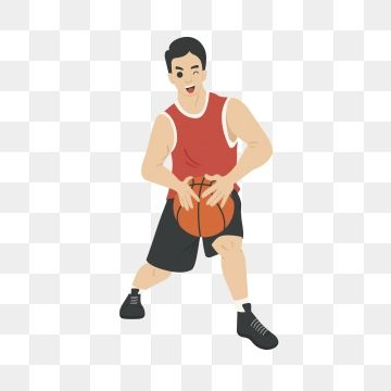 Basketball Play Basketball Basketball Player Athlete Cartoon Basketball Basketball Player Man Playing Basketball Png And Vector With Transparent Ba