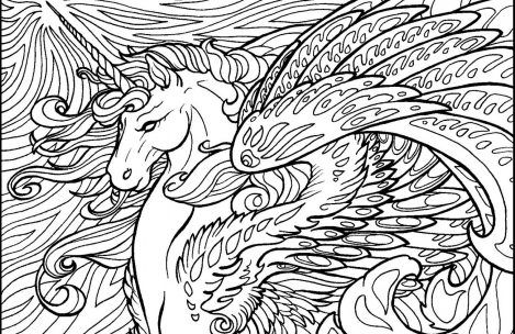 Free Printable Hard Coloring Pages For Adults And Kids Horse