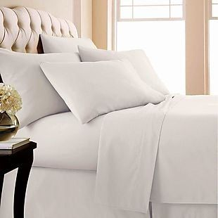 Select Bedding Item-Donna//Fitted//Flat Egyptian Cotton AU Sizes Grey Striped