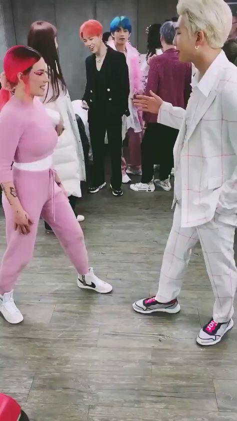 BTS with Halsey