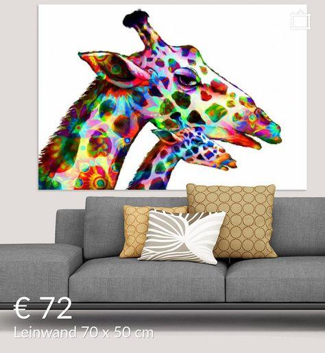 bunte giraffen poster  marion tenbergen  ohmyprints