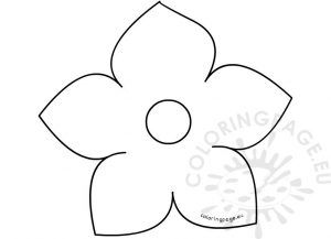 picture about 5 Petal Flower Template Free Printable known as 5 Petal Flower Template Ideal 5 Petal Flower Template