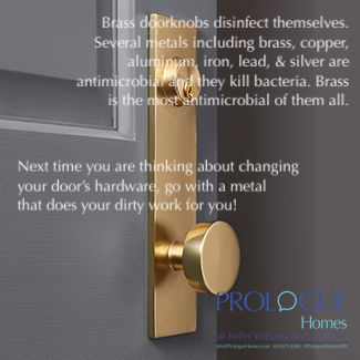 Did You Know That Brass Doorknobs Are Microbial There Are Other Metals That Are Too So If You Are Thinking About Changing Your Doors Hardware Make Sure Ruchka