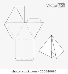Triangular Gift Box Template from i.pinimg.com