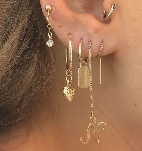 Ear Jewelry, Dainty Jewelry, Cute Jewelry, Body Jewelry, Jewelry Accessories, Jewellery, Trendy Jewelry, Summer Jewelry, Simple Jewelry