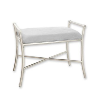 Harlow Vanity Bench In Brushed Nickel Bed Bath Beyond Vanity