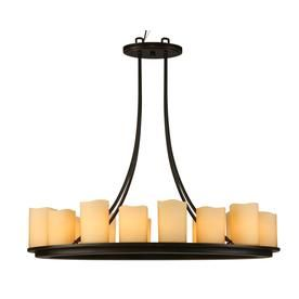 Shop Allen Roth Harpwell 17 In 14 Light Oil Rubbed Bronze