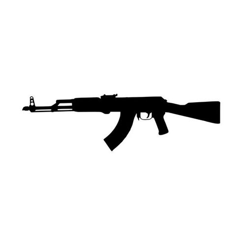 AK47 rifle vinyl decal to represent your 2nd amendment being used. Contact me for a different size or to customize with text below. The direction it faces can be reversed as well. Just add a note to seller. Made from premium indoor/oudoor vinyl, the decal will stick to any clean, smooth