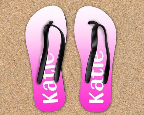 eec3af2df6ee Custom Name Flip Flops Sandals Shoes Personalized Prom