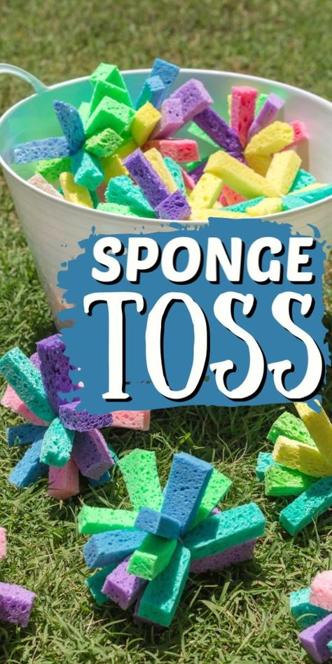 This could simply turn into a water fight, so make sure you make enough spongey ammunition for everyone! A great summer activity for the entire family. #craftsbyamanda #summercrafts