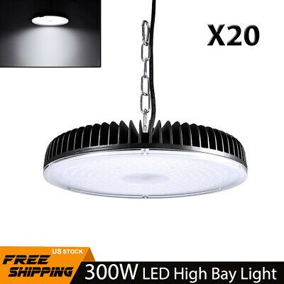 Details About 20pcs 300w Led High Low Bay Light Commercial Warehouse Shed Garage Lamp Lighting In 2020 Bay Lights Lamp Light Led Shop Lights
