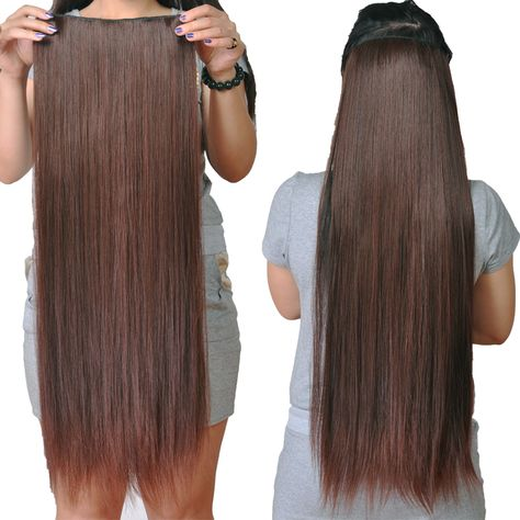50cm 60cm 70cm 4 Colors Straight 5 Clip In Hair Extensions