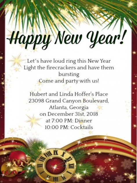 The 8 Secrets That You Shouldn T Know About New Year Party Invitation Letter Template New Y