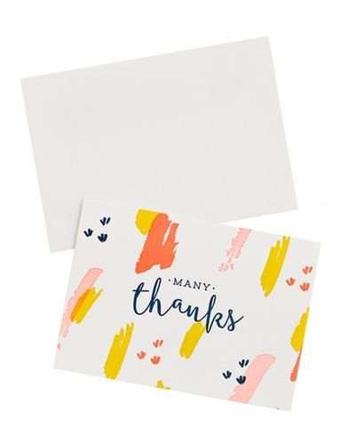 Swatch Stroke Thank You Card Set Thank You Greeting Cards Cute Thank You Cards Calligraphy Cards
