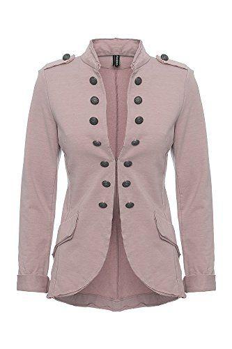 Damen Blazer Damenjacke Military Knopfe S Xxxl Farbe Altrosa Grosse Xxl