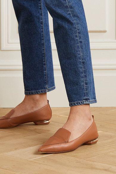 Tan Beya textured-leather loafers   Nicholas Kirkwood   Kirkwood, Nicholas kirkwood, Leather loafers