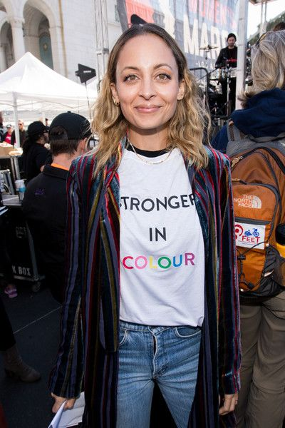 Actress Nicole Richie attends the Women's March Los Angeles.