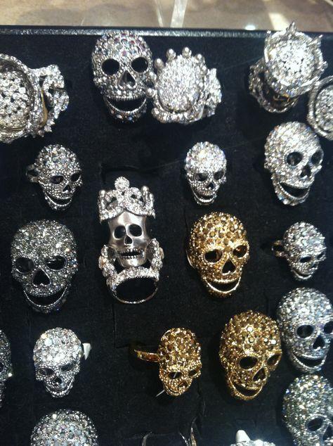 Butler and Wilson skull rings