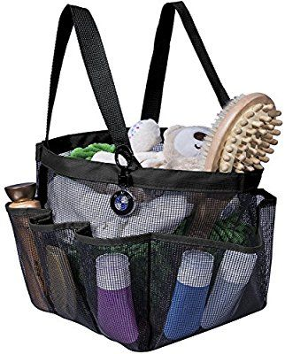 Amazon Com Attmu Portable Shower Caddy With 8 Mesh Storage Pockets Quick Dry Shower Tote Bag Oxford Hanging Toiletry A Caddy Bag Shower Caddy Portable Shower