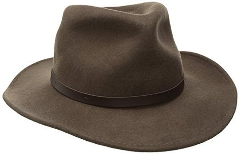 Ultrafino New OUTBACK CAPRY Putty CRUSHABLE Wool Hat Mens
