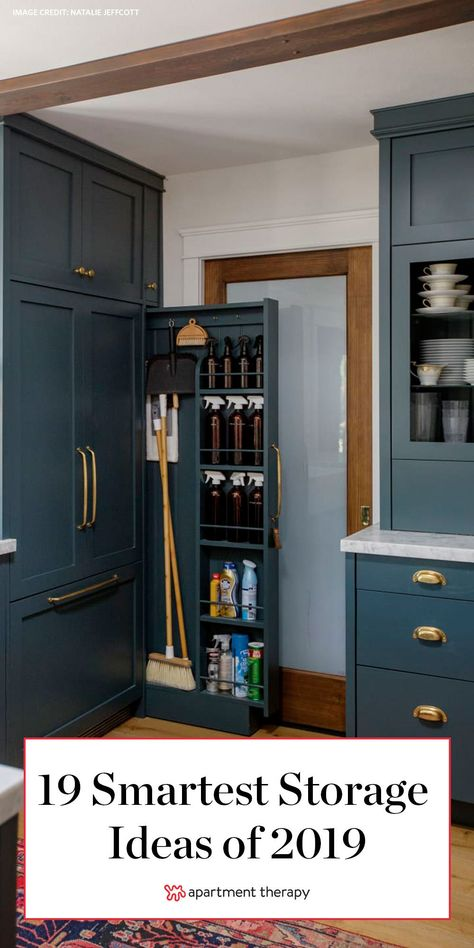 From small studio apartments filled with smart ways to maximize space to hidden ideas for those items you don't want to see to solutions worth sharing because they just plain look goodthese are the best storage ideas we saw this year from house tours. Storage, Smart Storage, Diy Kitchen Storage, Tiny House Storage, Diy Kitchen, Small Kitchen Storage, Smart Kitchen, Small House Storage, Storage Solutions