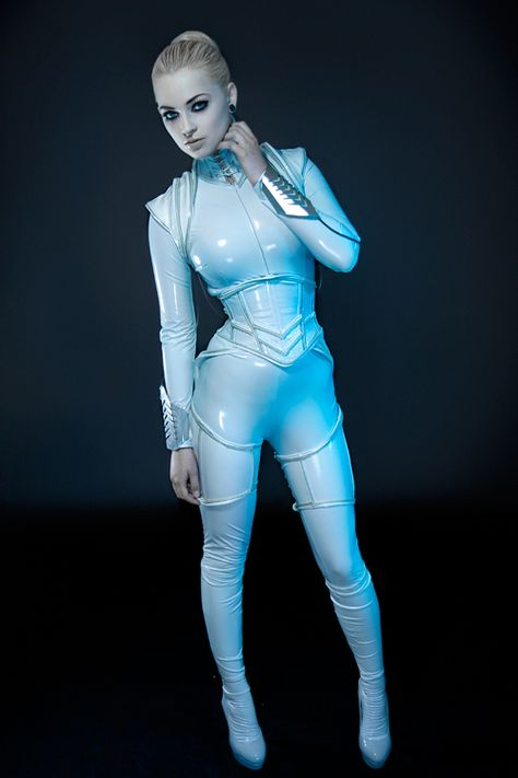 Futuristic fashion suit. I think this is most inspirational for a lab suit as it completely covers the body.