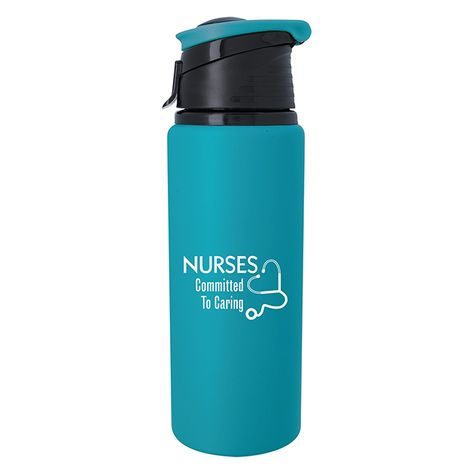 Insulated Stainless Steel Water Bottle Medical Symbol RN Registered Nurse 17 oz