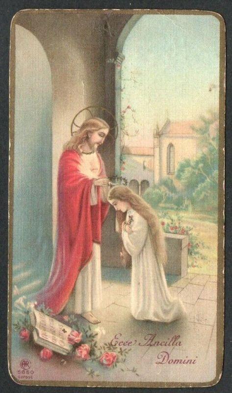 HOLY CARD ANTIQUE Jesus santino image pieuse estampa andachtsbild - $5.95. Holy card antique de Jesus 223511717123