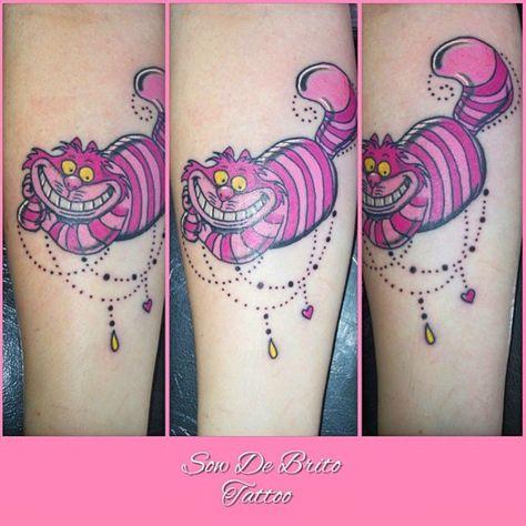 Cheshire Cat done by @sowdebrito_tattoo  #inkeddisney