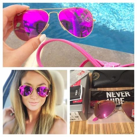 e4b3c56fee74ae Ray-Ban Aviator Brand New rb3025 Pink reflection yellow Everything included  Box