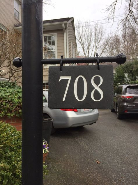 Hanging House Numbers Mailbox Lamppost Carved Stone Address House Numbers Mailbox On House Lamp Post