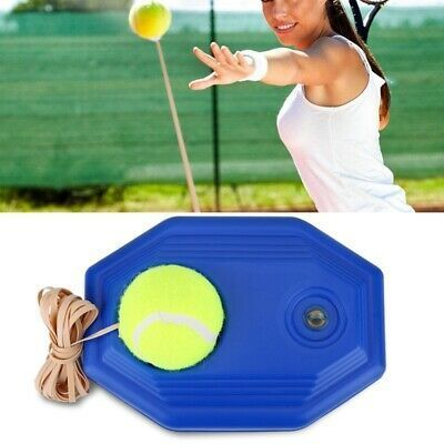 Single Tennis Trainer Training Self Practice Rebound Ball In 2020 Tennis Ball Elastic Rope Tennis Balls
