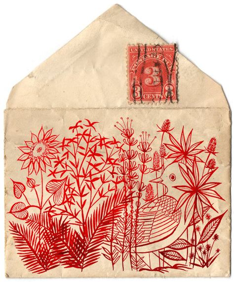 Decorate paper envelopes with stitching. Decorate fabric envelopes with stitching/ print making/ drawings. Start an envelope design and sent to someone else to finish. Mail Art, Blog Art, Envelope Art, Envelope Design, Inspiration Art, Japanese Graphic Design, Art Journals, Zentangle, Paper Art