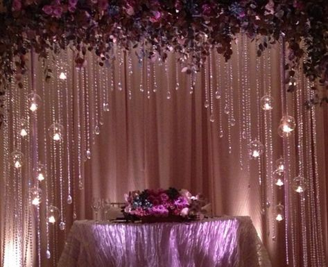 create this look with pretty simplified design co www #WeddingBackdrop #CandlesHeadTables